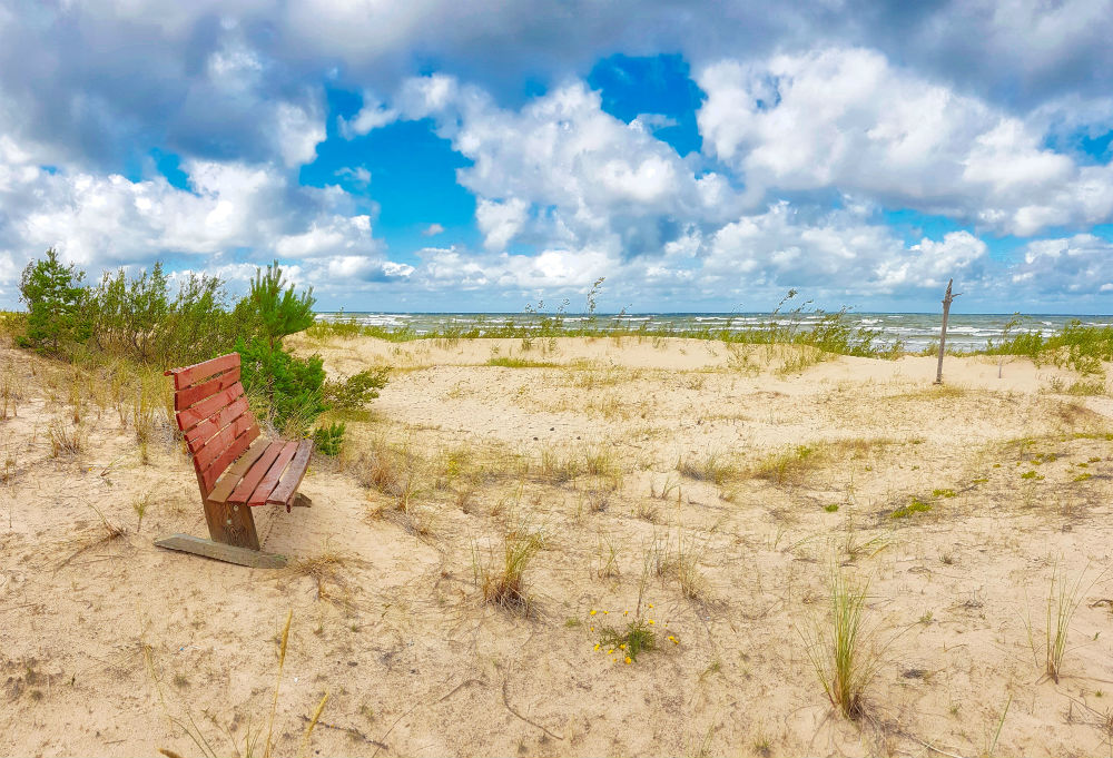Long distance hiking trail _ Baltic Sea coast _ Latvia