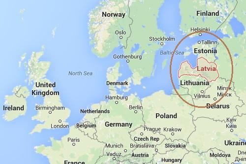 Latvia Location